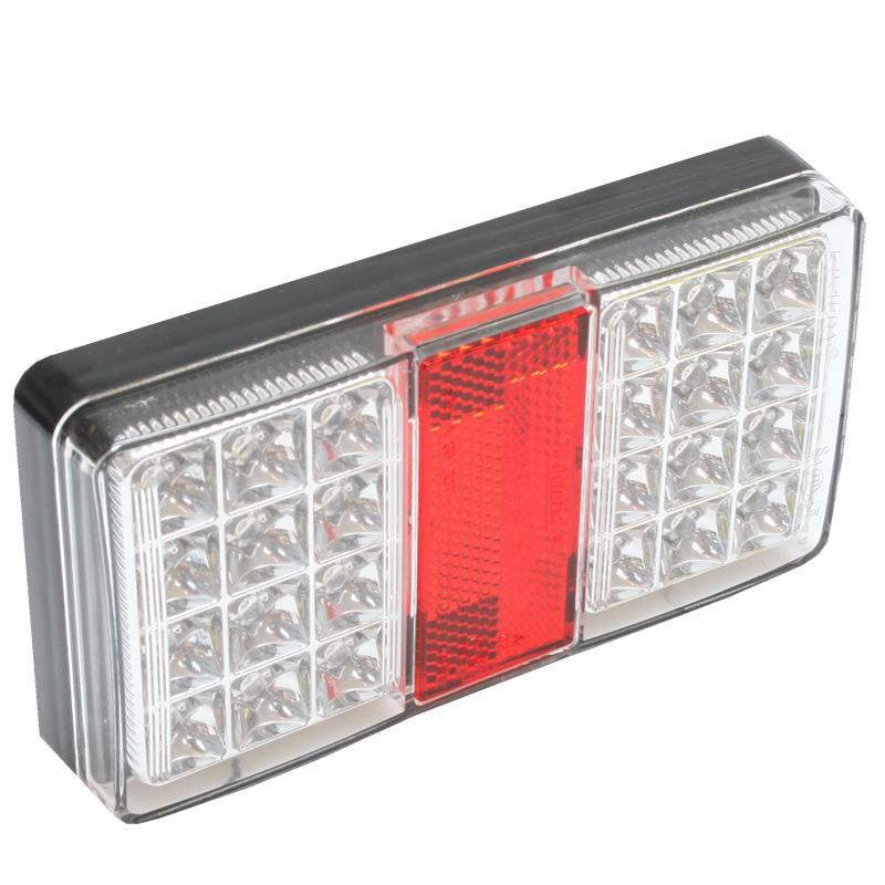 Cool LED Baglygte 12V/24V. 5W 24 lysdioder 30 cm tilslutsningskabel GN87